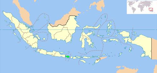 خريطة بالي