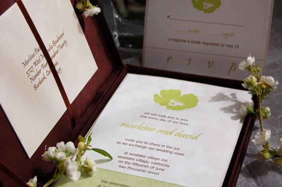 poppy silk box invitation