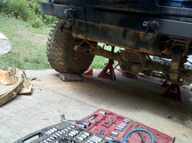 driver side rear spring - removed