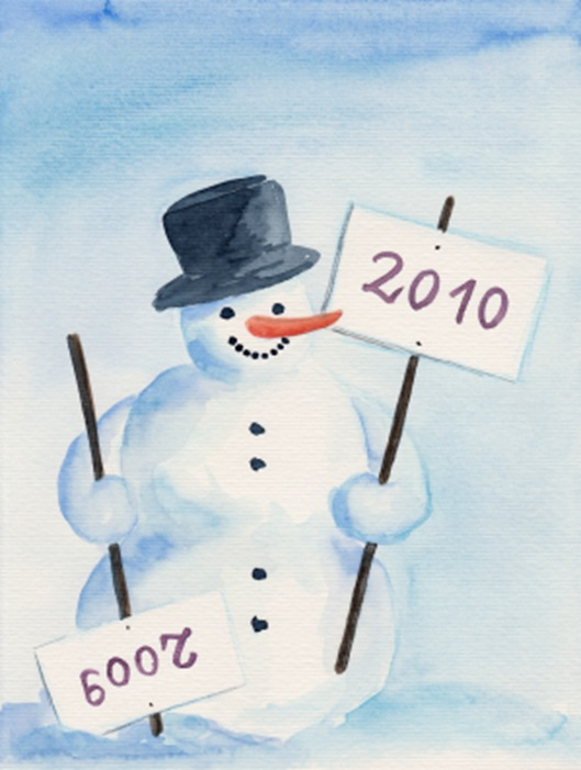 snowman New Year 2010