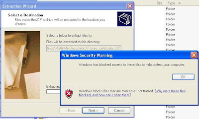 Windows Security Warning