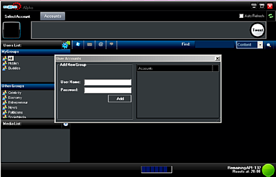 Buzzom Beta Log-in Interface