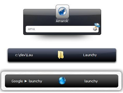 Launchy - launches applications on Windows via a search form query