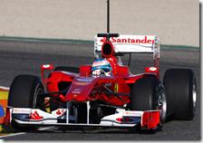Fernando Alono su Ferrari F10