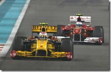 Petrov davanti ad Alonso nel gran premio di Abu Dhabi 2010