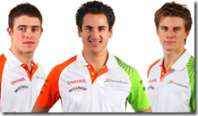 I tre piloti della Force India