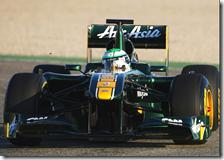 Kovalainen con la Lotus T128