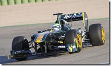 La Lotus T128 in pista