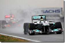 Rosberg con la Mercedes nei test di Barcellona