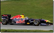 Vettel nei test di Barcellona
