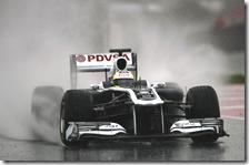 Maldonado con la Williams nei test di Barcellona