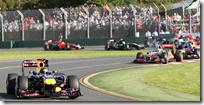Vettel già in fuga nella partenza del gran premio d'Australia 2011