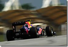 Webber nelle libere del gran premio della Malesia 2011