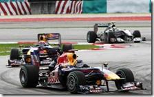 Nel 2010 la Red Bull dominò il gran premio della Malesia