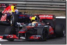Hamilton nel gran premio della Cina 2011