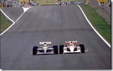 Mansell supera Senna nel gran premio di Spagna del 1991