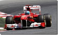 Alonso nelle prove libere del gran premio di Spagna 2011