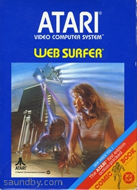 Web Surfer cartridge box for the Atari 2600. Web browser for the VCS?
