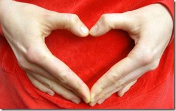hjärta med hand