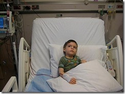 Pic of Ronan in hospital