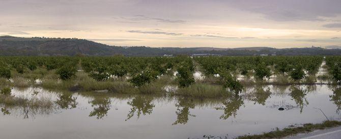 Inundación en los llanos de La Ina