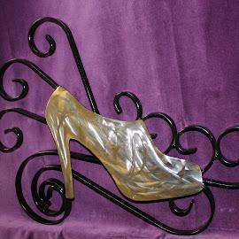 High Heel Booty by Joel Ortiz - Artistic Objects Other Objects ( scrolls, art, heel, shoe, black )