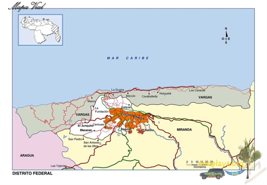 Mapa vial del Distrito Capital