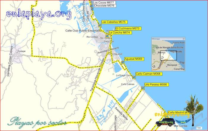 Higuerote - Playas desde Caño Madrid hasta Las Cabañas
