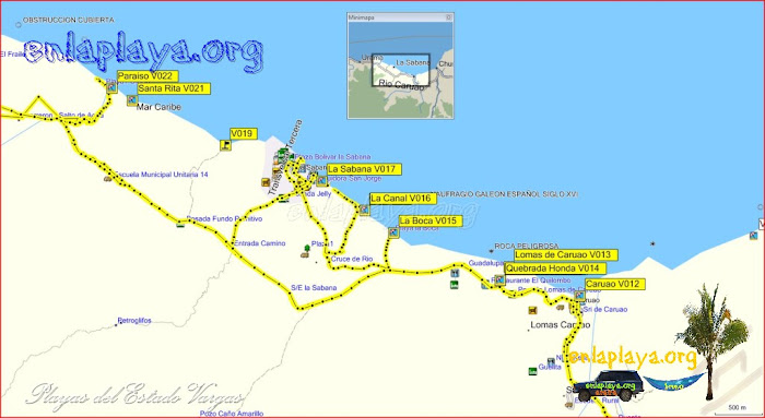 La Sabana - Playas desde Caruao hasta Paraiso