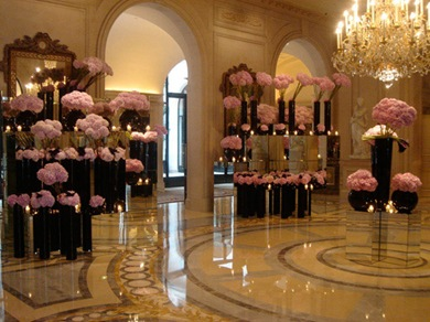 Four Seasons George V Paris - Jeff Leatham - Lobby Rosa 2