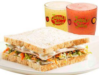 Algumas lanchonetes, como o Jungle Juice , oferem opções de