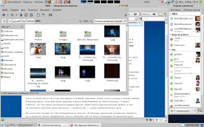 Общий вид моего рабочего стола Ubuntu
