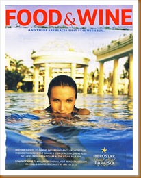 food and wine ad