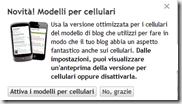 Blogger versione mobile