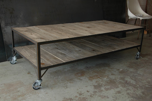 French Industrial Coffee Table Carts Vintage Industrial Furniture