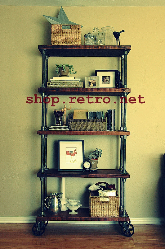 Vintage Industrial Bookcase 308 Shelf