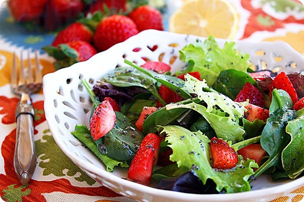 Strawberry Salad with Poppy Seed Vinaigrette 2