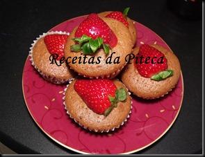 Cupcakes de chocolate e morango