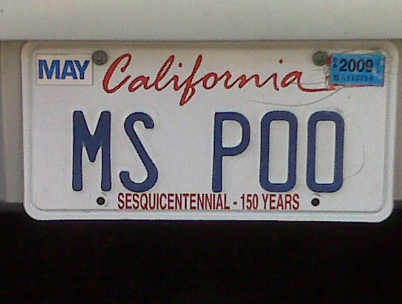 ms poo license plate