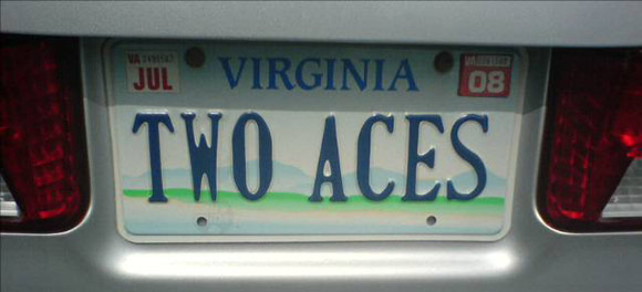 two aces license plate