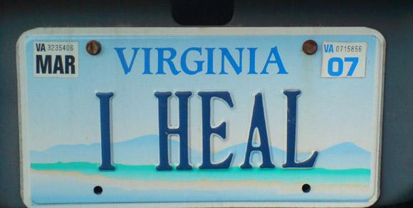 i heal license plate