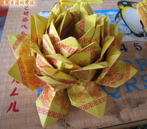 紙蓮花的花瓣