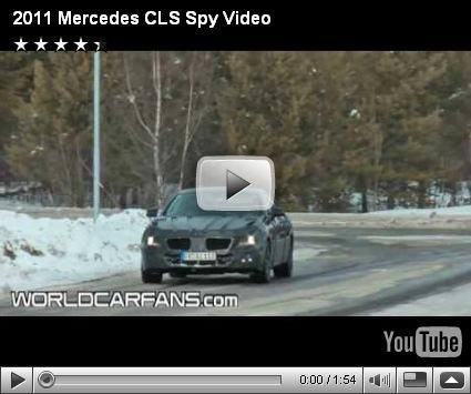 Vídeo espia-Mercedes CLS 2011
