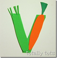 v is for vegetable craft