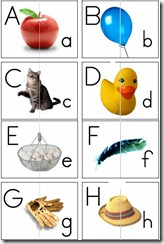 upper lowercase letters