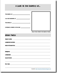 Country Factsheet Notebooking Page