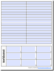Preschool Planning form