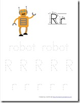 Robot Preschool Pack Part 2 tracing
