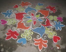 New Year Rangoli Design
