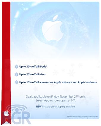 Apple's Black Friday (iPod) Deals